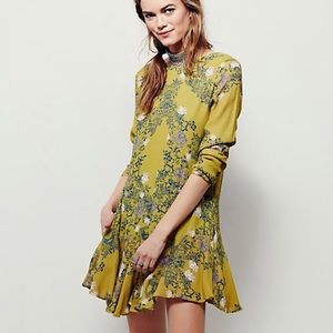 Free People Smooth Talker Floral Print Tunic